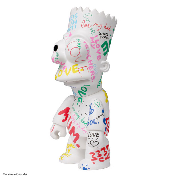 Bart Simpson (The Simpsons) v plastu / design toys (http://www.hiphopshopy.cz)